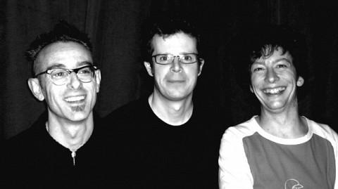 Foodsoon: Fabrizio Gilardino, Alexander MacSween, Bernard Falaise at La Sala Rossa [Photo: Nadia Bellefeuille, Montréal (Québec), December 6, 2005]