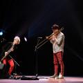 Lori Freedman / Scott Thomson Duo during the Le cabaret qui ruisselle concert, as part of the Montréal / Nouvelles Musiques 2021 festival. [Photograph: Céline Côté, Montréal (Québec), February 24, 2021]