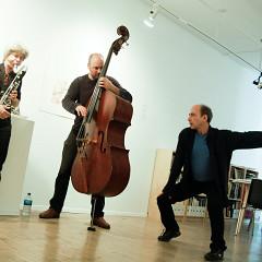 Lori Freedman, Nicolas Caloia, Daniel Soulières [Photograph: Céline Côté, Montréal (Québec), October 10, 2009]