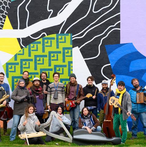 Grand groupe régional d'improvisation libérée (GGRIL) [Photograph: Marie-Pierre Morin, 2019]