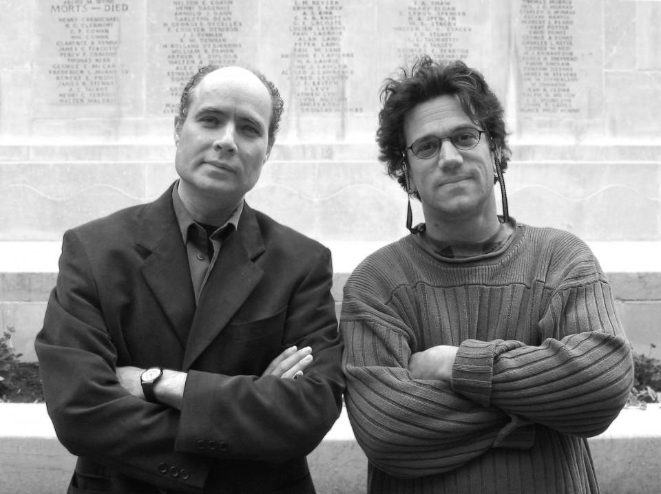 Gilles Gobeil, René Lussier [Photo: Luc Beauchemin, Montréal (Québec), August 2003]