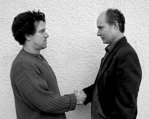 René Lussier, Gilles Gobeil [Photo: Luc Beauchemin, Montréal (Québec), août 2003]