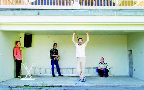 De gauche à droite: Ivar Grydeland, Xavier Charles, Ingar Zach, Christian Wallumrød [Photo: Tyler Olson, 9 septembre 2009]