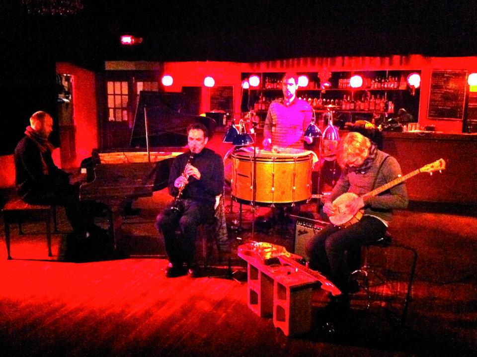 In concert at Montréal, left to right: , , Ingar Zach,  [Montréal (Québec), December 12, 2010]