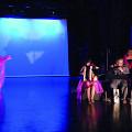 Susanna Hood, Alice Tougas St-Jak, Jean Derome, Joane Hétu, Isaiah Ceccarelli, in the piece Cochonne [Photograph: Jean-Claude Désinor, Montréal (Québec), October 27, 2010]