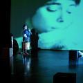 Isaiah Ceccarelli, Jean Derome, Joane Hétu, Susanna Hood, in the piece L'habit [Photograph: Jean-Claude Désinor, Montréal (Québec), October 27, 2010]