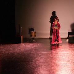 Alice Tougas St-Jak, Joane Hétu, Susanna Hood, in the piece Notes sur la mélodie des choses [Photograph: Jean-Claude Désinor, Montréal (Québec), October 27, 2010]