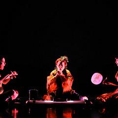 Susanna Hood, Joane Hétu, Alice Tougas St-Jak, in the piece Territoire [Photograph: Sandra Fotozone, Montréal (Québec), October 27, 2010]