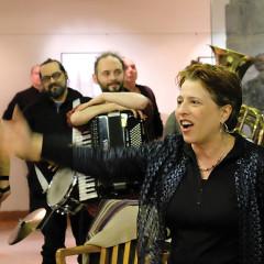 Joane Hétu, Fanfare Pourpour lors de l'événement DAME: Archive / mémoire [Photo: Céline Côté, Montréal (Québec), 16 février 2017]