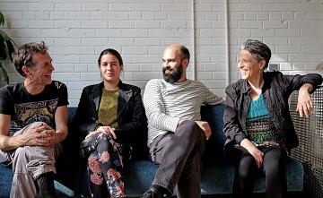 Hmmh / Also pictured: Carl Ludwig Hübsch, Émilie Mouchous, Pierre-Yves Martel, Joane Hétu [Photo: Céline Côté, October 22, 2017]