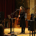 Terri Hron / INTER/actions 2016; Lépidoptères — Europe 2016: Evening Concert, Powis Hall – Bangor University, Bangor (Wales, UK) [Photo: Yanmi Au, Bangor (Wales, UK), March 6, 2016]