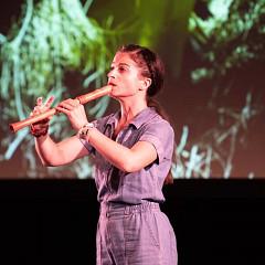 Terri Hron [Photo: Colette Phillips (Sound Symposium), St John's (Newfoundland and Labrador, Canada), July 10, 2018]
