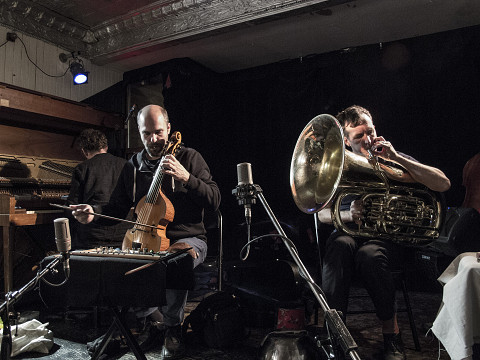 Philip Zoubek, Pierre-Yves Martel, Carl Ludwig Hübsch [Photograph: Céline Côté, Montréal (Québec), October 20, 2016]