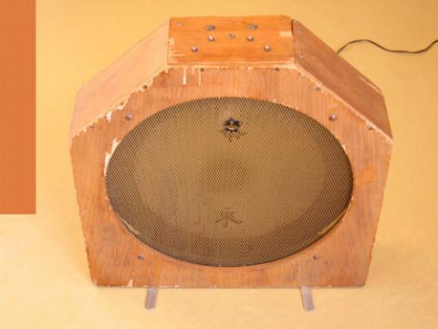 Ondes Martenot, 1976 (7th generation since 1928; 1st generation with transistors); Suzanne Binet-Audet's instrument. 26/38 [Photo: Luc Beauchemin, Boucherville (Québec), April 2005]