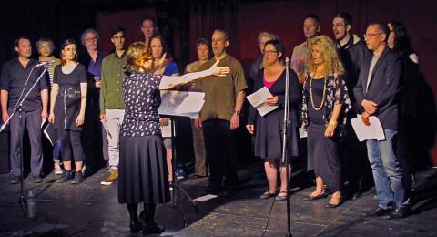 In concert's Chante ta chanson Chorale Joker plays at La Vitrola [Photograph: Céline Côté, Montréal (Québec), June 22, 2016]