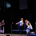 Joker_LesLucioles: Tableau 3 — chants des lucioles — Lori Freedman, Cléo Palacio-Quintin, Catherine Tardif [Photograph: Martin Morissette, Victoriaville (Québec), May 19, 2019]