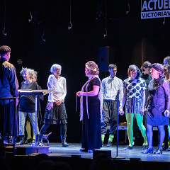Joker_LesLucioles: Tableau 6 — chants des lucioles.3 sous la direction de Jean Derome [Photo: Martin Morissette, Victoriaville (Québec), 19 mai 2019]