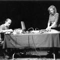 Parasites (Martin Tétreault, Diane Labrosse) live at La Chapelle [Photograph: Céline Côté, Montréal (Québec), November 27, 2001]