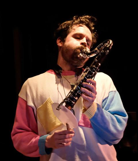 Philippe Lauzier / Concert, La Sala Rossa, Montréal (Québec) [Photograph: Céline Côté, Montréal (Québec), April 11, 2018]