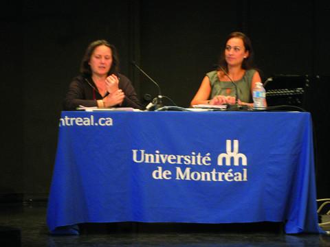 Joëlle Léandre s'entretient avec Sophie Stévance à l'Université de Montréal [Montréal (Québec), 6 octobre 2011]