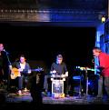 Joane Hétu, Alexandre St-Onge, Thomas Lehn, Jean Derome, in concert in Montréal [Photograph: Céline Côté, Montréal (Québec), April 17, 2012]