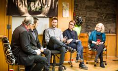Réjean Beaucage, Fabrice Marandola, Nicolas Gouin, Victor Saliba, Pauline Vaillancourt [Photo: Vincent Marchessault, Montréal (Québec), January 22, 2017]