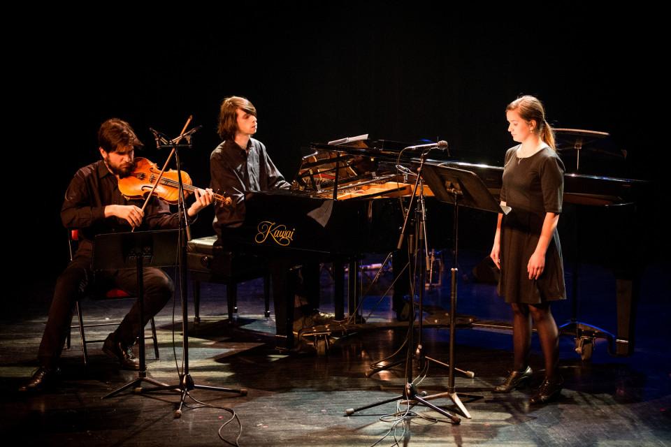 Dillon Hatcher, Pierrot-Baptiste Lemée-Jolicoeur, Claire Chamberland [Photo: Vincent Marchessault, Montréal (Québec), March 17, 2017]
