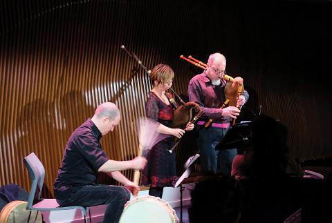 La Nef in concert at DAME: Archive / mémoire [Photograph: Céline Côté, Montréal (Québec), February 16, 2017]