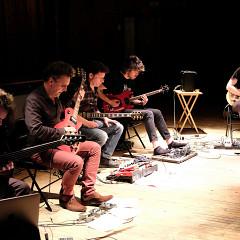 Jack et ses boîtes in concert [Photograph: Céline Côté, Montréal (Québec), May 30, 2017]