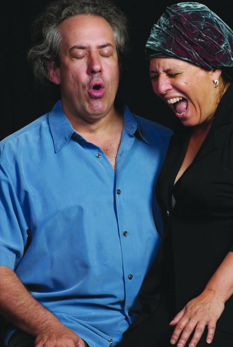 Nous perçons les oreilles (Jean Derome, Joane Hétu) [Photograph: Jean-Claude Désinor, August 22, 2009]