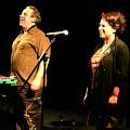 Nous perçons les oreilles (Jean Derome, Joane Hétu) in concert at Montréal [Photo: Jean-Claude Désinor, Montréal (Québec), March 10, 2010]