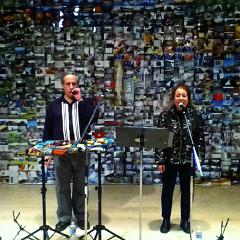 Nous perçons les oreilles (Jean Derome, Joane Hétu) en concert à la Galerie Open Space à Victoria [Victoria (Colombie-Britannique, Canada), 18 novembre 2011]