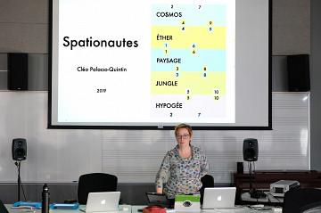 Conférence-démonstration en compagnie de Cléo Palacio-Quintin au CIRMMIT [Photo: Céline Côté, Montréal (Québec), 19 mars 2019]