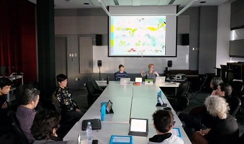 Conférence-démonstration en compagnie de Cléo Palacio-Quintin et Ana Dall'Ara-Majek au CIRMMIT [Photo: Céline Côté, Montréal (Québec), 19 mars 2019]