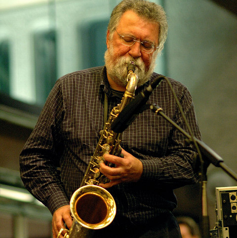 Evan Parker [Photograph: Richard Kaby, 2010]