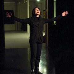 Christiane Pasquier performing in the piece Joséphine, la cantatrice des souris third part of the project À la rencontre de Kafka [Photograph: Jean-Claude Désinor, Montréal (Québec), April 15, 2011]