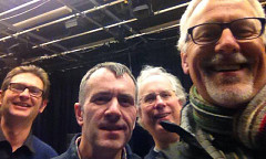 Simon Atkinson, Alistair MacDonald, Robert Dow, Pete Stollery [Photo: Pete Stollery, Leicester (England, UK), January 29, 2014]