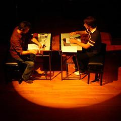 Projet pupitre de Martin Messier, Jacques Poulin-Denis au International Conference on New Interfaces for Musical Expression (NIME 2008) [Photo: François Houle, Gênes (Italie), 6 juin 2008]