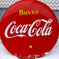 Authentique enseigne Coca-Cola