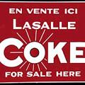 Authentique affiche Lasalle Coke