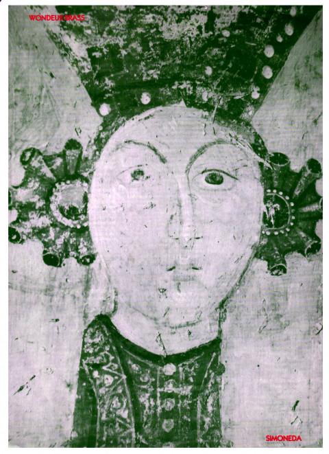 Page 1 du feuillet discographique de 4 pages (français et anglais) de «Simoneda, reine des esclaves»