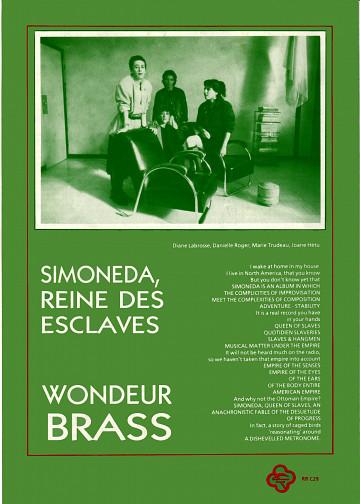 Page 4 du feuillet discographique de 4 pages (français et anglais) de «Simoneda, reine des esclaves»