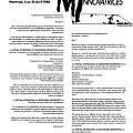 Page 3 du programme du FIMI. Mot de la direction artistique de Productions SuperMémé