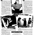 Page 11 du programme du FIMI. Soirée de clôture le 10 avril aux Foufounes électrique «The New-York Scene» sont présentes: Shelly Hirsch, Zeena Parkins, Kumiko Kimoto, Ikue Morie et Luli Shiori