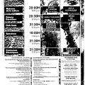 Page 12 du programme du FIMI. Grille horaire des événements