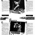 Page 19 du programme du FIMI. Joëlle Léandre concert du 10 avril à la maison de la culture La Petite Patrie. Michèle Buirette, Geneviève Cabannes et Dominique Fonfrede concert du 10 avril à la maison de la culture du Plateau-Mont-Royal