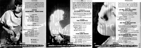 Montage de la face intérieure du dépliant de 6 pages «Musiciennes innovatrices»