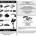 Montage des pages 1 et 4 du programme. «Magasin de tissu» de Jean Derome, concert dans le cadre du quatrième événement «Débâcles» de la saison 91-92 «Ce n'est pas nouveau, c'est vivant»