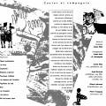 Montage des pages 2 et 3 du programme. Castor et compagnie de Joane Hétu concert dans la cadre de l'événement «Roche, Papier, Ciseaux» 4 jeudis de musique actuelle
