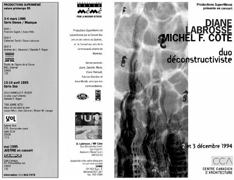 Montage des pages 1 et 4 du programme